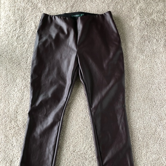 Ralph Lauren Pants - Ralph Lauren Womens Faux Leather Pants